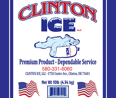 bagged ice|clinton ice