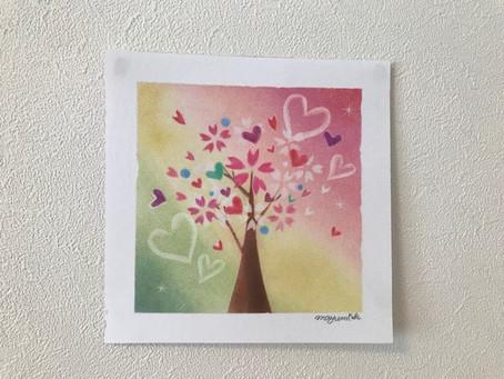 パステル和みアート 桜の作品