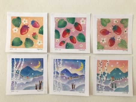 パステル和みアート1dayレッスン開催しました。