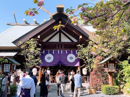 東京大神宮で神様から歓迎を受けました❤︎