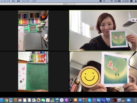 【香港】パステル和みアート準インストラクター養成講座zoomで開催❗️