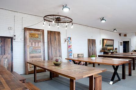 rustic-industrial showroom
