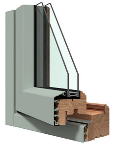 aluminium clad wood window