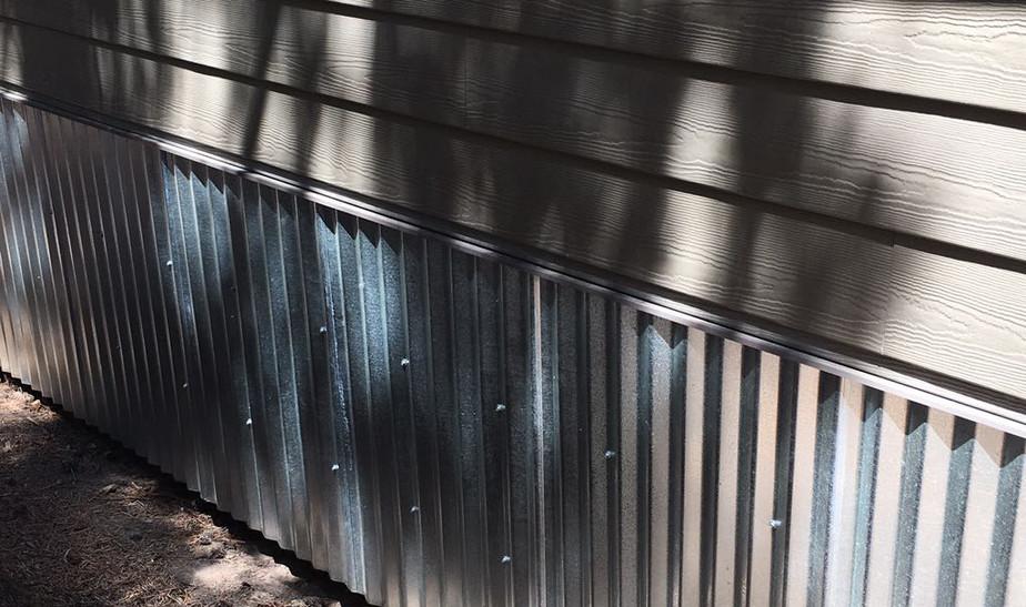 Cedar Siding and Metal Trim
