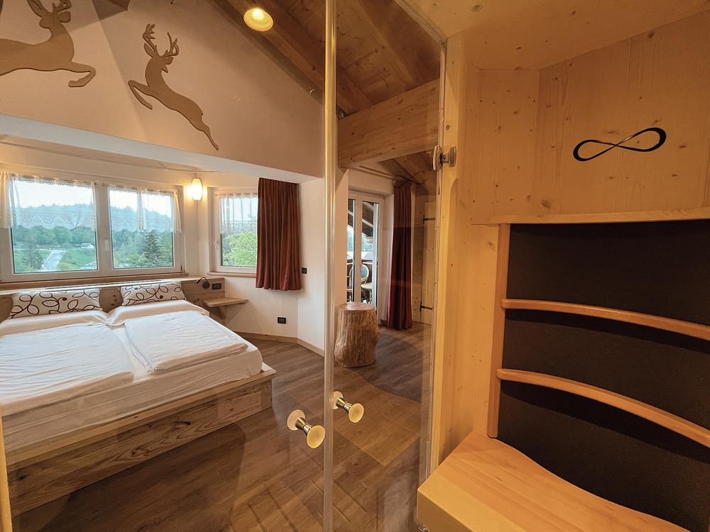 Suite hotel al lago con cabina sauna hydrosoft