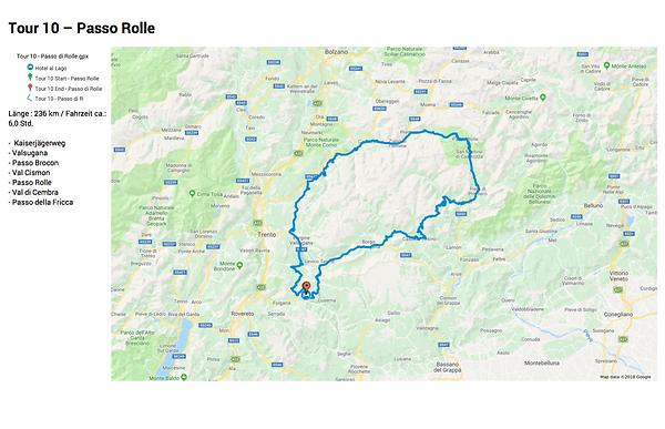 Tour Motorrad Passo Rolle