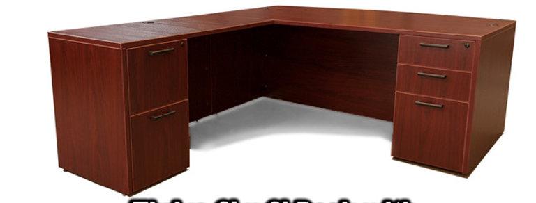 L-Shape Desk 6'x6' with BBF & FF Ped