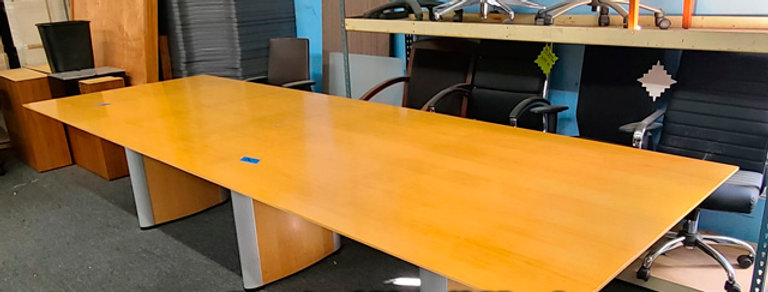 Maple 12' x4' Conference Table with NO Power