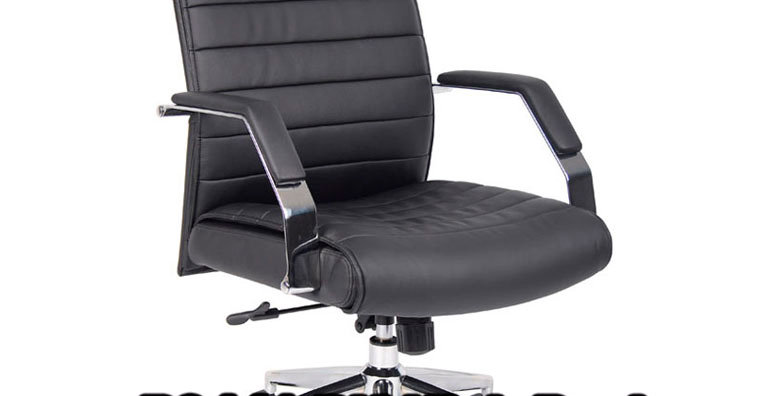 Boss Leatherplus High Back Executive Chair in Black