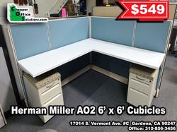 Herman Miller AO2 6' x 6' Cubicles