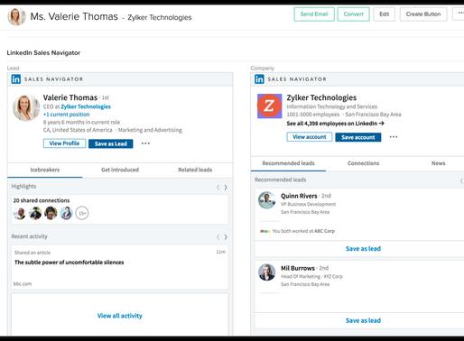 ¡ZohoCRM y Linkedin Sales Navigator hicieron match!