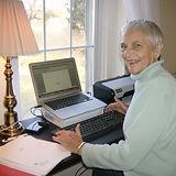 Nancy writing in Nerinx.JPG