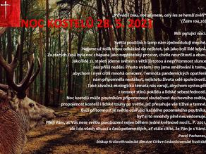 Přivádíš tmu, noc se snese, celý les se hemží zvěří... NOC KOSTELŮ 2021