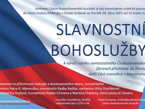 SLAVNOSTNÍ BOHOSLUŽBYk výročí vzniku samostatného Československa