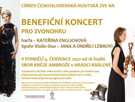 Benefiční koncert pro ZVONOHRU, v rámci večera pro mistra Jana Husa