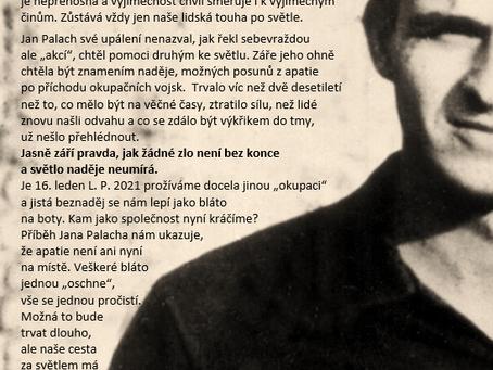 Výzva Jana Palacha a 16. leden 2021