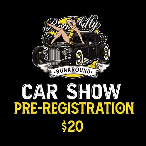 Car Show Pre Registration
