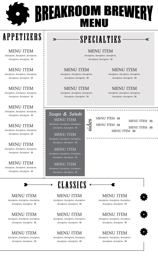Menu Concept Design