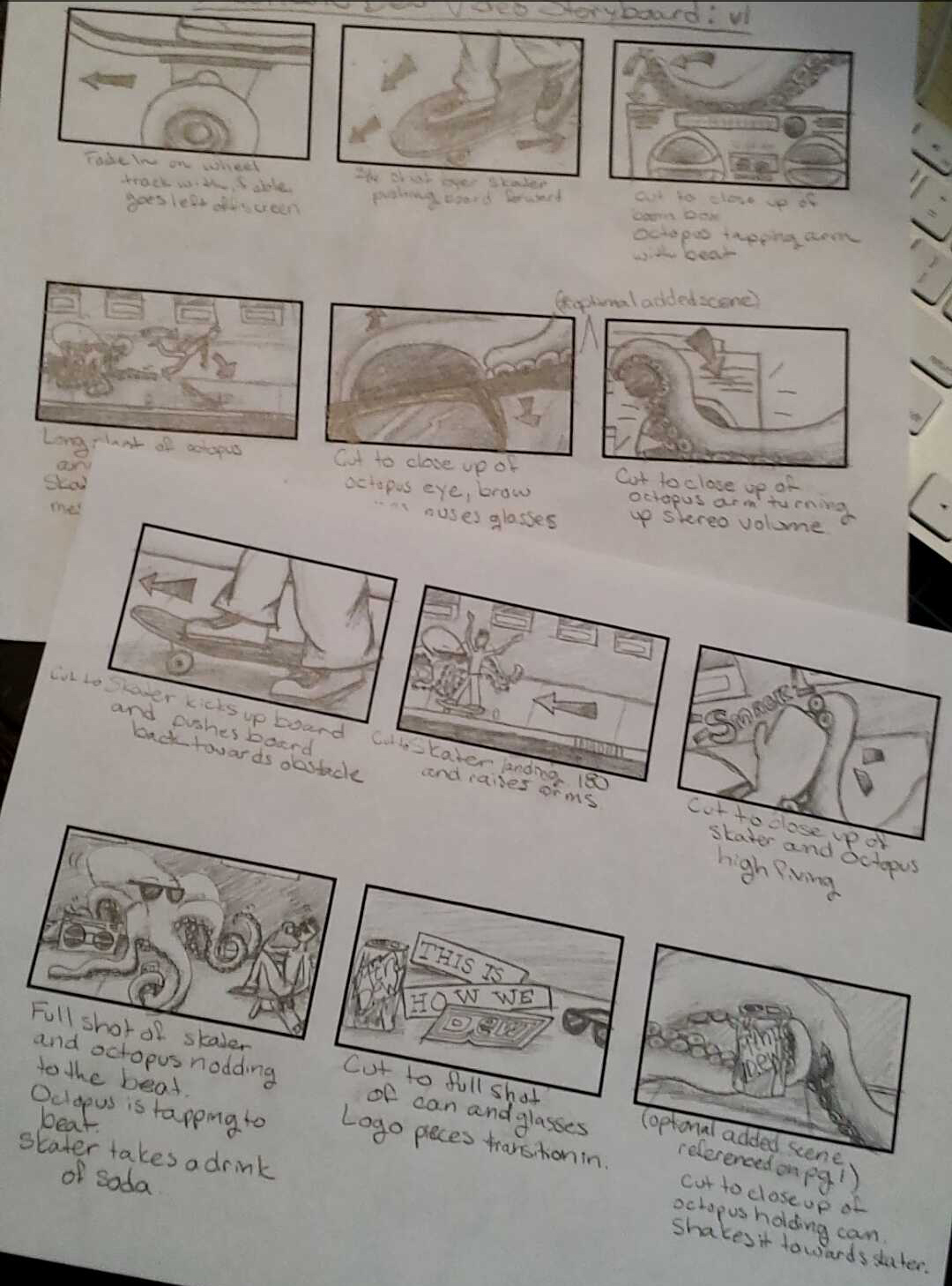 Dew Anything Storyboards