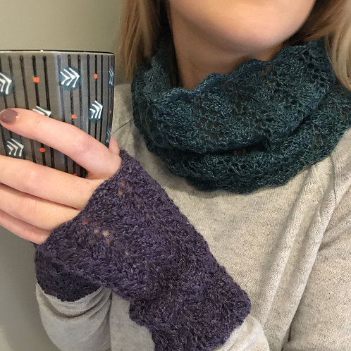 Vineyard Cowl and Wrist Warmers