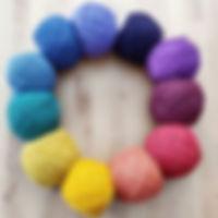 A little colour wheel of mohair blend ya