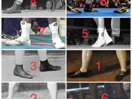 Evolução das sapatilhas de boxe