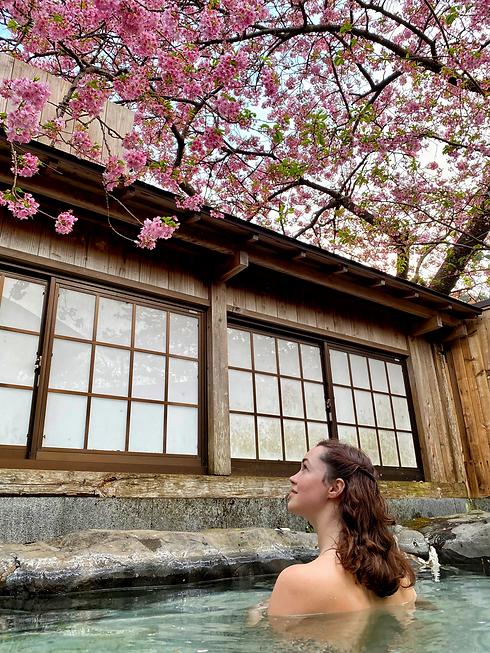 sakura cherry blossom bath