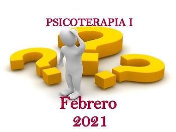 2 Seminario de PSICOTERAPIA I. Febrero 2