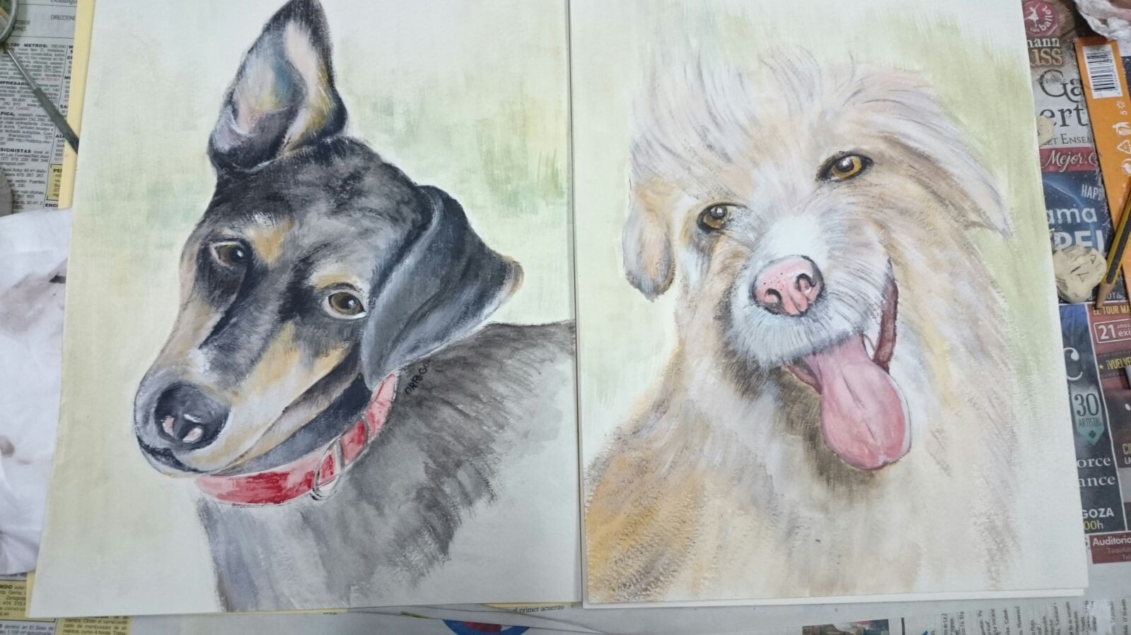 Retrato de tu mascota (25€)
