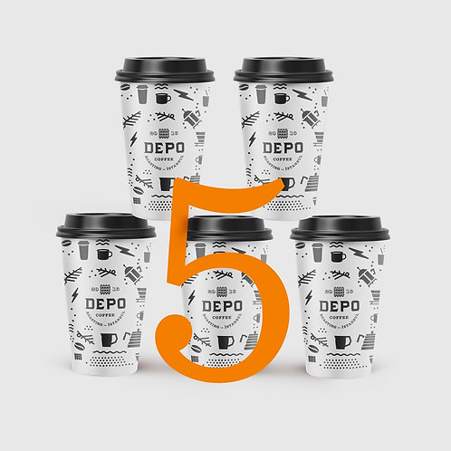 5 Bardak Kahve