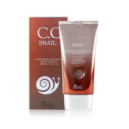 CC крем с улиточным муцином - Ekel CC Snail SPF 50+ PA +++