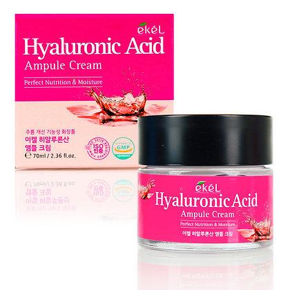 Ампульный крем с гиалуроновой кислотой EKEL Hyaluronic Acid Ampule Cream