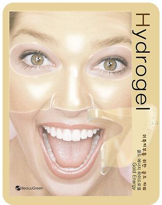 Гидрогелевая маска для лица с коллоидным золотом - BEAUUGREEN