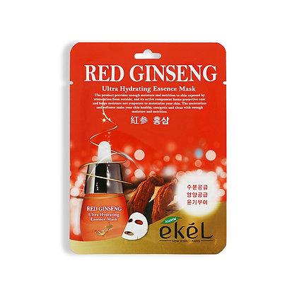 Маска тканевая с экстрактом красного женьшеня - EKEL RED GINSENG Ultra Hydrating Essence Mask