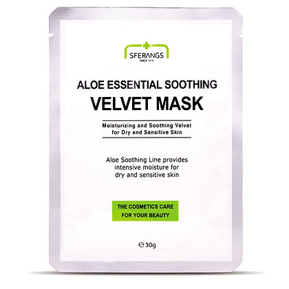 SFERANGS ALOE ESSENTIAL SOOTHING VELVET MASK  Успокаивающая маска Velvet с алоэ