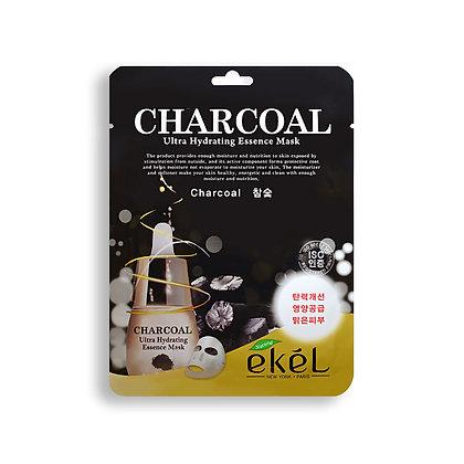 Маска тканевая с древесным углем EKEL CHARCOAL Ultra Hydrating Essence Mask