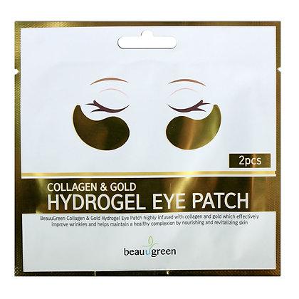 BEAUUGREEN Collagen & Gold Hydrogel Eye Patch (2 pcs)  Гидрогелевые патчи с коллагеном и золотом (2 шт)