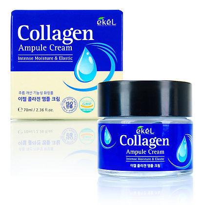 Ампульный крем с коллагеном EKEL Collagen Ampule Cream