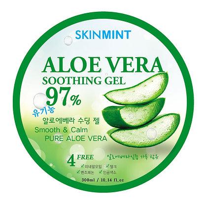 Гель увлажняющий для лица и тела с экстрактом алоэ 97% - SKINMINT Aloe Vera Gel