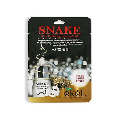 Маска тканевая с пептидом змеиного яда EKEL SNAKE Ultra Hydrating Essence Mask