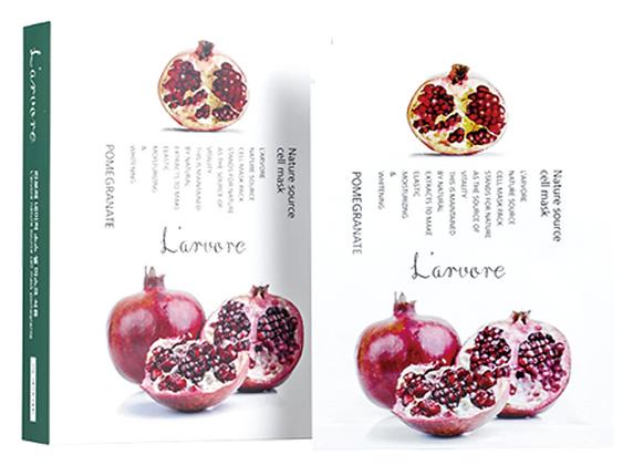 Тканевая маска для лица с экстрактом граната - L'arvore Nature Source Cell Mask Pomegranate