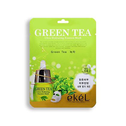 Маска тканевая с экстрактом зеленого чая EKEL GREEN TEA Ultra Hydrating Essence Mask