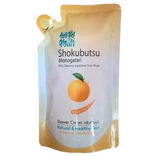 Гель-крем для душа с маслом апельсина -LIONShokubutsu Orange Peel Oil Shower Cream