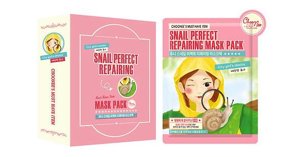 Тканевая маска с экстрактом улиточной слизи - CHOONEE Snail Perfect Repairing Mask Pack