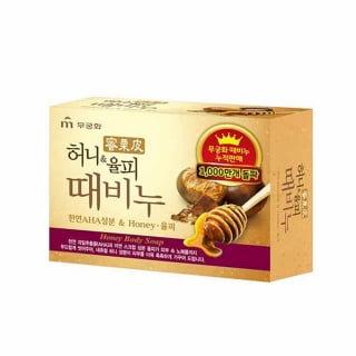 Мыло для тела с медом и скорлупой каштанов Mukunghwa Honey Body Soap