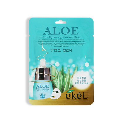 Маска тканевая с экстрактом алое EKEL ALOE Ultra Hydrating Essence Mask