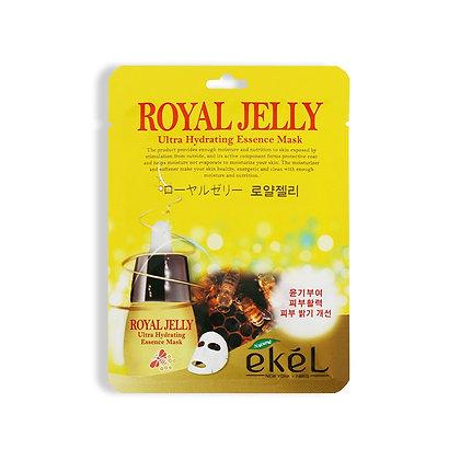 Маска тканевая с маточным молочком EKEL ROYAL JELLY Ultra Hydrating Essence Mask