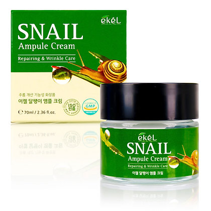 Ампульный крем с улиточным муцином EKEL Snail Ampule Cream