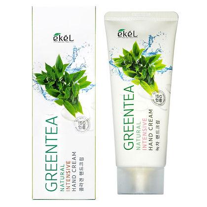 Интенсивный крем для рук с Зеленым Чаем EKEL Green Tea Natural Intensive Hand Cream