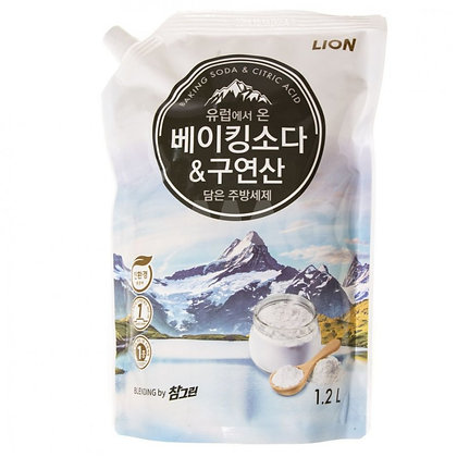 Средство для мытья посуды сода-лимон (мяг. уп.) - CJ LION Chamgreen